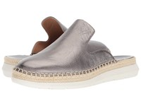 Calvin Klein Verie Espadrille Loafer Mule Anthracite Slip On Shoes Pewter
