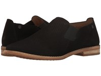 Hush Puppies Analise Clever Black Suede Perf Women's Slip On Dress Shoes