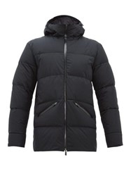 Herno Laminar Hooded Quilted Down Jacket Black
