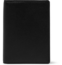 Common Projects Cross Grain Leather Bifold Cardholder Black