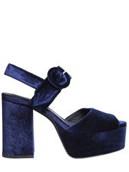 Jeffrey Campbell 110Mm Masie Velvet Platform Sandals