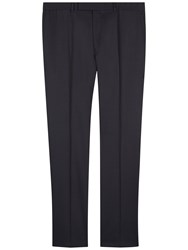 Jaeger Wool Pick And Pick Regular Suit Trousers Charcoal