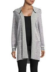 Bench Open Front Hooded Cardigan Snow White