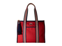 Tory Burch Embroidered T Tote Cherry Apple Tote Handbags