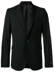 Les Hommes Tailored Fitted Blazer Black