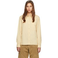 Christophe Lemaire Yellow Pointed Collar Shirt