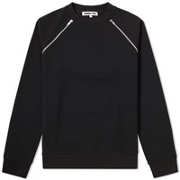 Mcq By Alexander Mcqueen Zip Crew Sweat Black