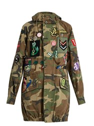 Marc Jacobs Patch Applique Camouflage Print Hooded Jacket