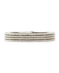 Roberto Coin Symphony Collection 18K Gold Stacked Barocco Bangle White Gold