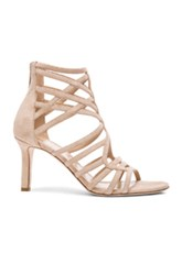 Tamara Mellon Goddess Nappa And Suede Sandals In Neutrals