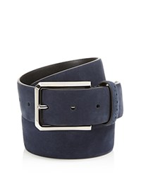 Canali Brogue Nubuck Belt Navy