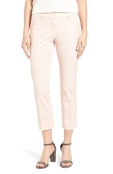 Halogenr Women's Halogen Crop Stretch Cotton Pants Pink Peach