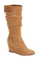 Johnston And Murphy Nicole Wedge Boot Camel Suede