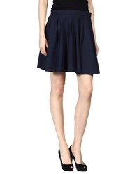 Pomandere Mini Skirts Dark Blue
