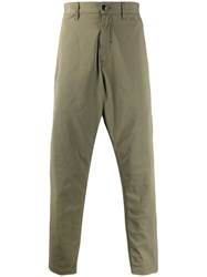 Stone Island Shadow Project Plain Casual Trousers Green