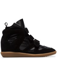 Isabel Marant Black Buckee Suede Trim Wedge Hi