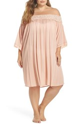 Muche Et Muchette Plus Size Women's Rimini Crochet Cover Up Dress Pink