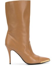 Stella Mccartney Pointed Toe Boots Brown