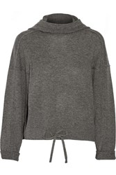 Helmut Lang Cashmere Hooded Sweater Gray