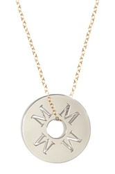 Miriam Merenfeld 14K Gold Filled And Sterling Silver Initial Pendant Necklace Multiple Letter Choices Available Metallic