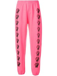 Ashley Williams Printed Faces Track Pants Pink