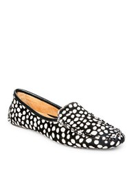 Patricia Green Jillian Driving Moccasins Black White Dots
