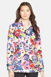 Lauren Ralph Lauren Floral Print Cotton Trench Coat Multi