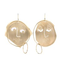 J.W.Anderson Moon Face Gold Plated Earrings