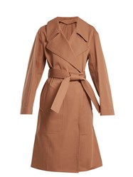 Christophe Lemaire Oversized Cotton Twill Trench Coat Tan