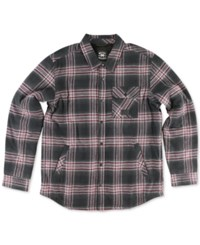 Metal Mulisha Blackout Plaid Faux Sherpa Lined Shirt Jacket