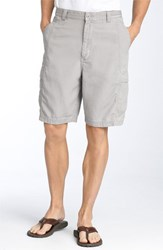 Men's Big And Tall Tommy Bahama 'Key Grip' Relaxed Fit Cargo Shorts Light Storm