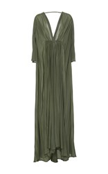 Kalita Clemence Gown With Sleeves Green