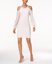 Msk Embellished Cold Shoulder Dress Blossom