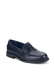 Cole Haan Pinch Campus Leather Penny Loafers Blazer Blue Antique