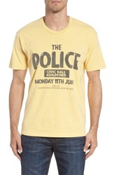 Retro Brand The Police Graphic T Shirt Antique Yellow