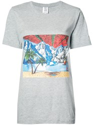Rosie Assoulin 'Impossible Landscape' Printed T Shirt Grey