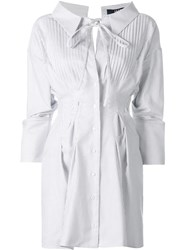 Jacquemus Gathered Shirt Dress White