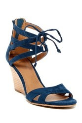 14Th And Union Carlie Strappy Wedge Heel Blue