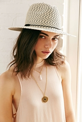 Urban Outfitters Mexicali Straw Panama Hat Black Multi