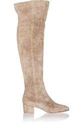 Gianvito Rossi Suede Over The Knee Boots