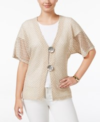 Jm Collection Petite Dolman Sleeve Cardigan Only At Macy's Stone