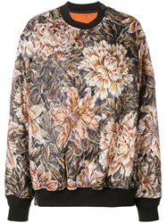 Y 3 Quilted Floral Print Oversized Sweater Nude And Neutrals
