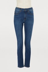 Atelier Notify Bamboo Skinny High Waisted Jeans Medium Blue