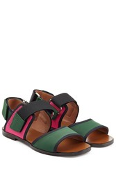 Marni Colorblock Sandals Multicolor
