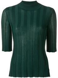 Sonia Rykiel Fitted Ribbed Jumper Green