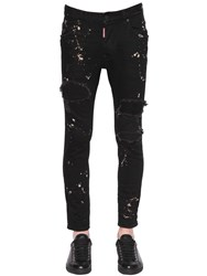 Dsquared 16Cm Skater Destroyed Denim Jeans