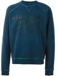 Dsquared2 'Never Mind The Bulldogs' Classic Print Sweatshirt Blue