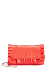Ted Baker London Ruffle Leather Matinee Wallet Red Mid Red