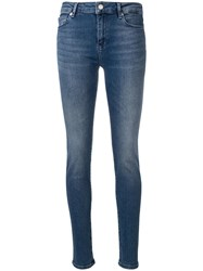 Love Moschino Logo Embellished Skinny Jeans Blue
