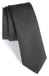 Boss Men's Solid Silk And Linen Tie